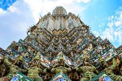 Wat Arun Stupa. Worm's eye view of temple stupa Stock Photo