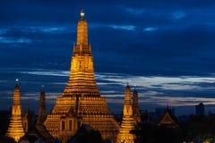 Wat Arun Sunset Stockbilder