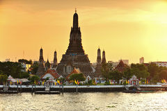 Wat Arun during sunset in Bangkok Royalty Free Stock Images