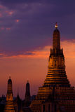 Wat Arun Sunset - Bangkok, Thailand. Wat Arun at Sunset - Bangkok, Thailand royalty free stock images