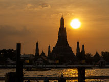 Wat Arun at sunset, Bangkok, Thailand Royalty Free Stock Photos