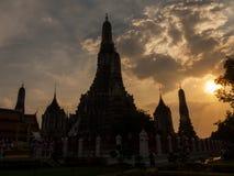 Wat Arun at sunset, Bangkok, Thailand Stock Photos