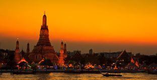 Wat Arun in the sunset Stock Photography