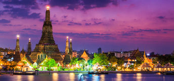 Wat Arun in the sunset Royalty Free Stock Photography