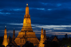 Wat Arun Sunset. Wat Arun, the Temple of Dawn, at dusk Stock Images