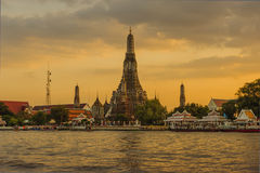 Wat Arun Tempel in Bangkok Stockbild
