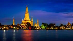 Wat Arun Tempel in Bangkok stockfotos
