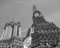 Wat Arun Tempeloberseite (Bangkok, Thailand, Asien) Lizenzfreie Stockbilder