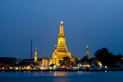 Wat Arun Temple. The scene of Thailand about Royalty Free Stock Photo