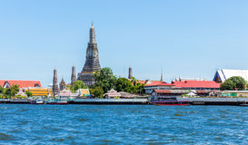 Wat Arun (Temple) across Chao Phraya River in Bangkok, Thailand Stock Images