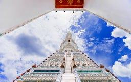 Wat Arun The Temple av Dawn Landmark av Bangkok, Thailand arkivbild