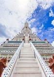 Wat Arun The Temple av Dawn Landmark av Bangkok, Thailand royaltyfri foto