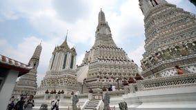 Wat Arun temple in Bangkok stock video