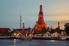 Wat Arun Temple in Bangkok Stock Image