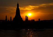Wat Arun Temple in bangkok thailand Royalty Free Stock Photos