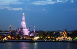 Wat Arun Temple in bangkok Stock Photography