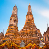 Wat Arun Temple in Bangkok, Thailand. Stock Photo