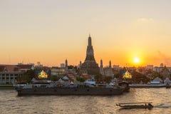 Wat Arun temple and Chao Phraya River, Bangkok, Thailand Royalty Free Stock Images