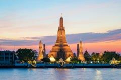 Wat Arun temple and Chao Phraya River, Bangkok, Thailand Stock Photo
