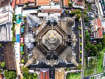 Wat Arun Temple and Chao Phraya Riverside in Bangkok Thailand. Royalty Free Stock Images