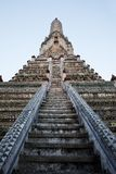 Wat Arun, Temple of Dawn in Bangkok. Close-up view of Wat Arun, Temple of Dawn, in Bangkok, Thailand Stock Photos