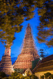 Wat arun or temple of dawn in bangkok  while renovate a Royalty Free Stock Photos
