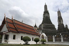 Wat arun temple of the dawn bangkok thailand Stock Image