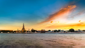 Wat Arun - the Temple of Dawn in Bangkok Royalty Free Stock Photography