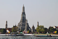 Wat Arun. Temple of Dawn) is a Buddhist temple (wat) in Bangkok Yai district of Bangkok, Thailand, on west bank of the Chao Phraya River Royalty Free Stock Image