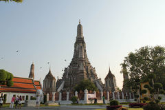 Wat Arun-Temple of Dawn. Wat Arun or called Temple of dawn located in bangkok, Thailand where is a trourist spot Stock Photos