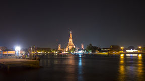 Wat Arun Temple of Dawn at night Stock Photography
