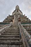 Wat Arun Temple of Dawn Steps and Tower Detail Royalty Free Stock Photos
