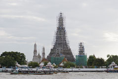 Wat Arun, Temple of Dawn under renovation Royalty Free Stock Images