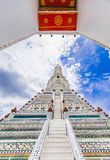 Wat Arun The Temple de Dawn Landmark de Bangkok, Thaïlande image libre de droits