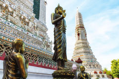 Wat Arun Temple Detail Stock Photos