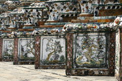 Wat Arun temple details in Bangkok Royalty Free Stock Images