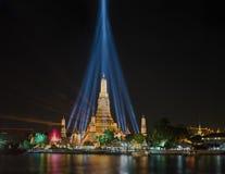 Wat Arun Temple en la noche Imagen de archivo