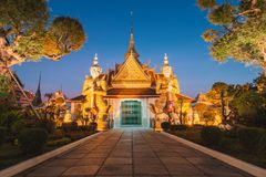 Wat Arun Temple Entrance, Bangkok Thailand royalty free stock photo