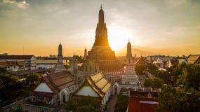 Wat arun temple important landmark destination of tourist travel Royalty Free Stock Photo