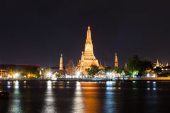 Wat Arun Temple at night. Bangkok. Stock Photos