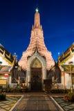 Wat Arun Temple på Bangkok i Thailand Arkivbilder