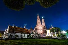 Wat Arun Temple på Bangkok i Thailand Arkivfoto