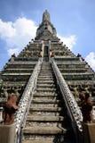 Wat Arun Temple på Bangkok Thailand Arkivbild