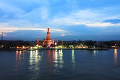Wat Arun. Temple at the riverfront Royalty Free Stock Photo