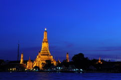 Wat Arun Temple in sunset Royalty Free Stock Images
