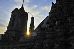 Wat Arun temple during sunset Royalty Free Stock Image