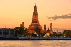 Wat Arun Temple at sunset Stock Photos