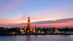 Wat Arun Temple in sunset at bangkok Thailand Stock Images
