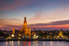 Wat Arun Temple at sunset. Bangkok. Stock Image