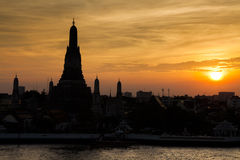 Wat Arun Temple at sunset. Bangkok. Royalty Free Stock Photos